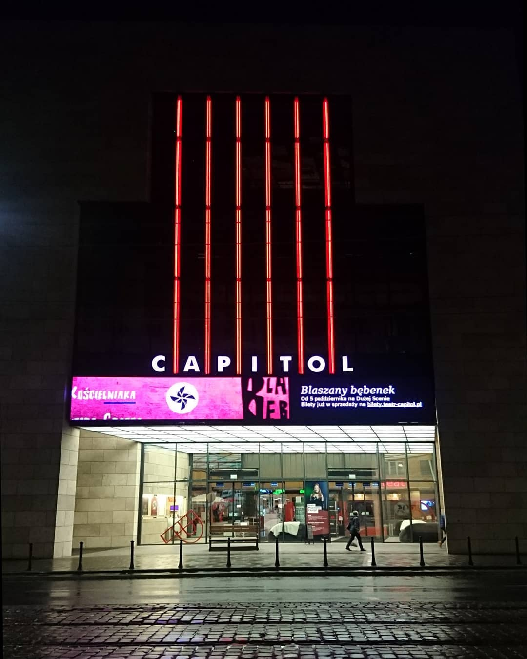 Capitol teater, with neonlight entrance #teater #capitol ...